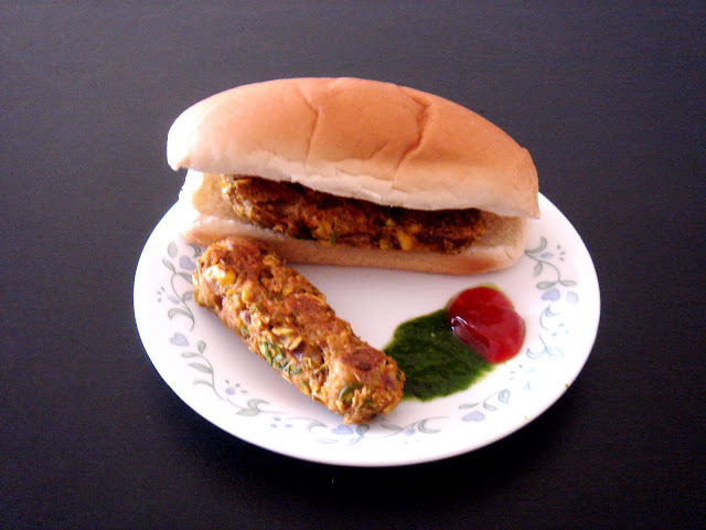 Sandwich using baked vegetable patties