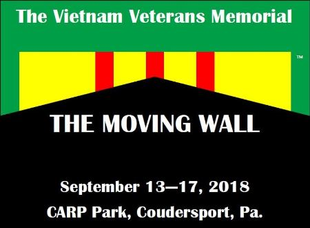 9-13-17 The Moving Wall, Coudersport, PA