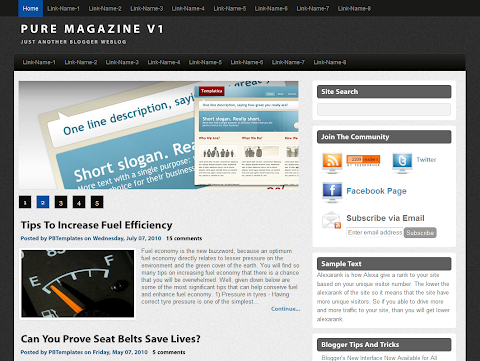Pure Magazine V1 Blogger Theme
