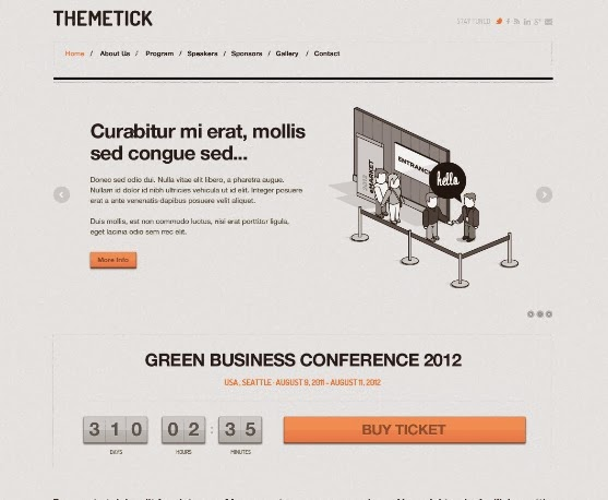 Themetick - Event Management WordPress Theme