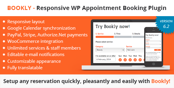 Bookly v8.0 – Book Appointments, Book Services, Book Anything