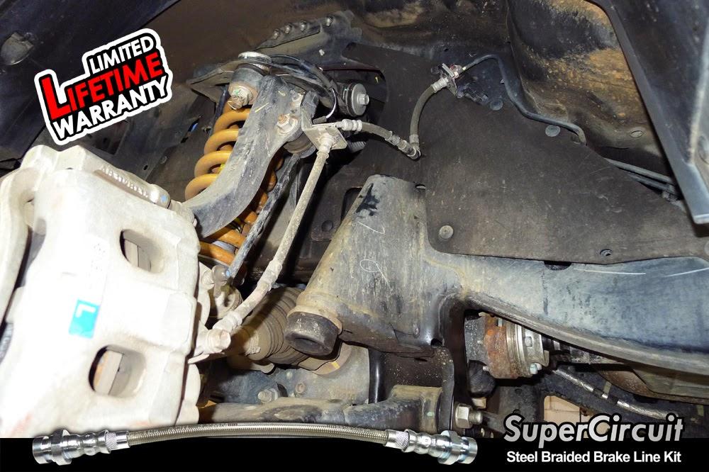 Ford Ranger Brake Lines : Supercircuit steel braided brake lines ford ranger d