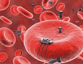 Imaginarios nanobots en el torrente sanguíneo