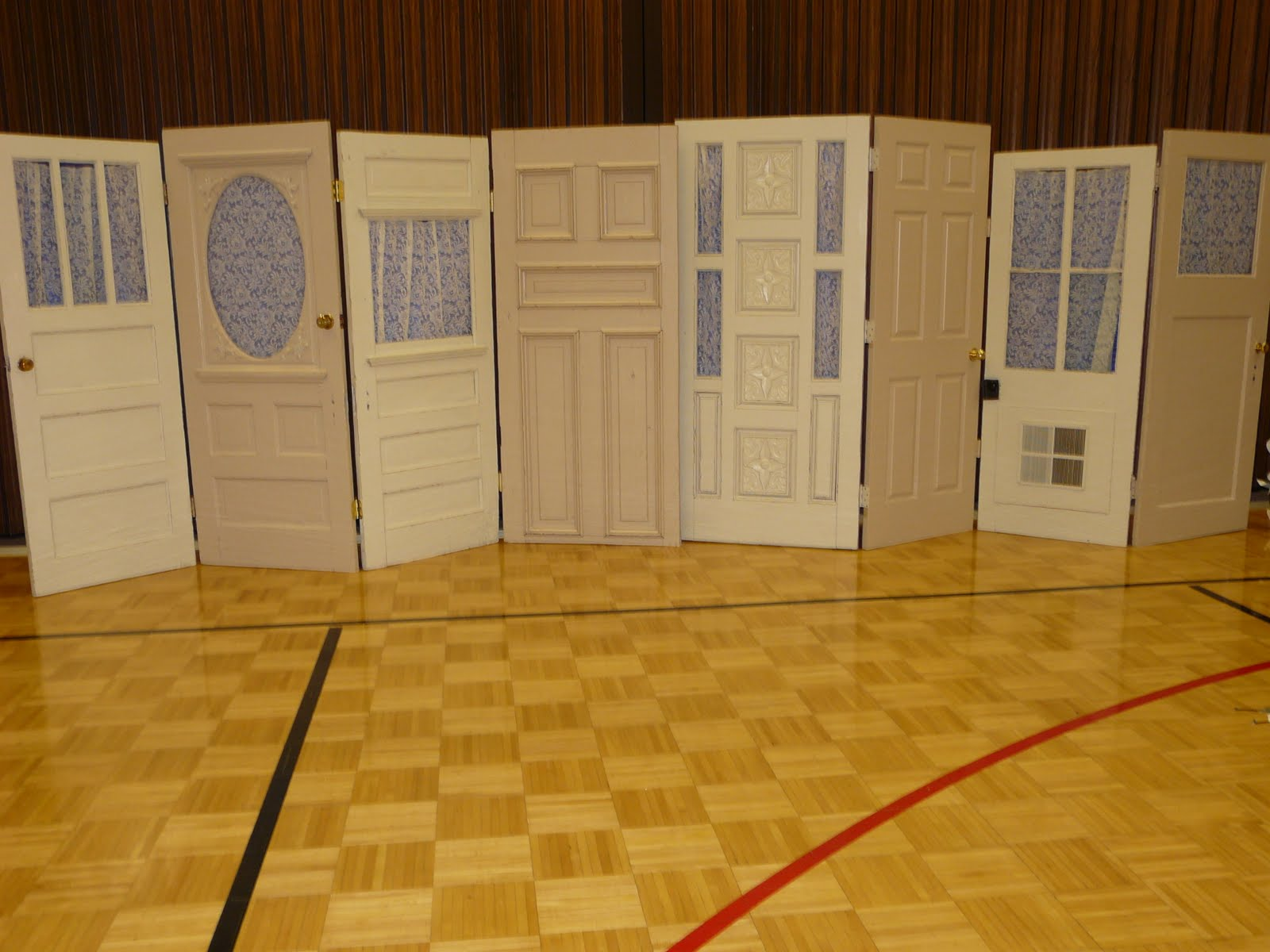 Backdrop or Background Doors for the Wedding & The \