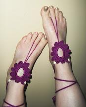 Flower Barefoot Sandals Pattern-Free