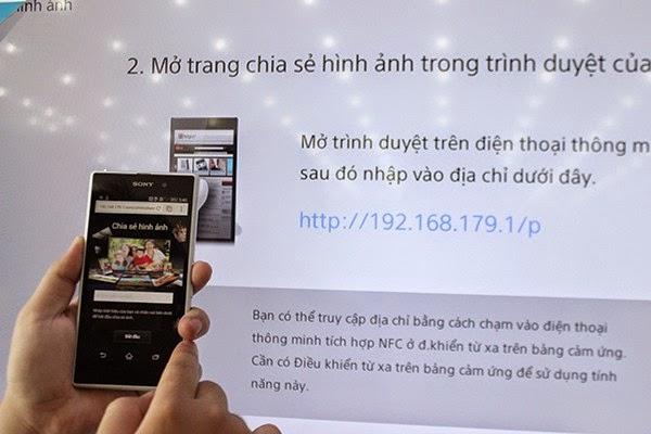 Nhập địa chỉ IP được hiển thị vào điện thoại