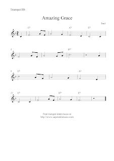 Amazing grace free trumpet sheet music notes