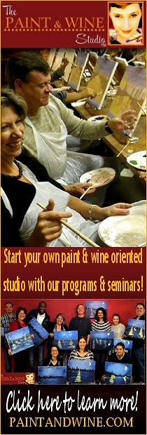 How to start a paint and wine oriented studio
