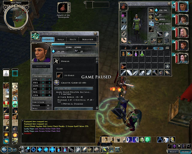 Neverwinter Nights 2 - Bard Level 14 Screenshot