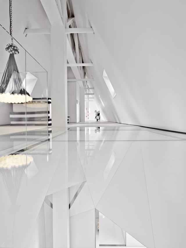 Modern attic floor