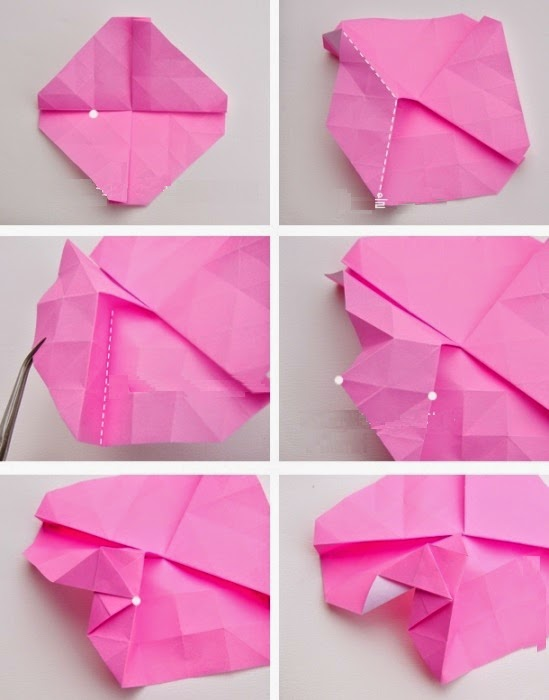 origami rose instructions easy