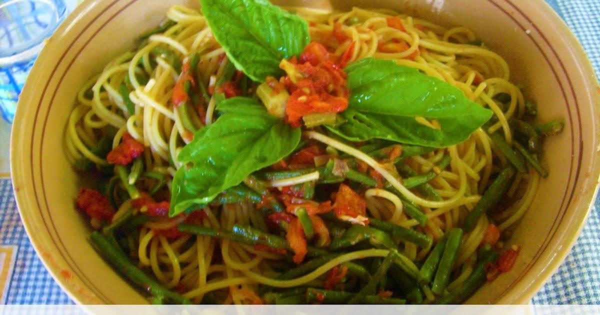 Ricci picci e capricci spaghetti con fagiolini tonno