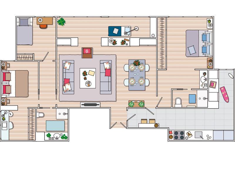 Planos de casas planos de salones for Planos chalets modernos