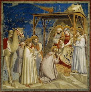 La adoración de los Magos - Hacia 1305 - Giotto - Capilla Scrovegni - Padua