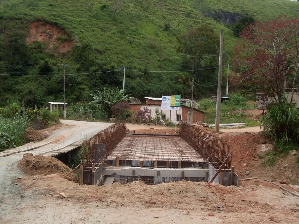 Foto Ponte dos Prates antes: Ponte dos Prates no período de construção