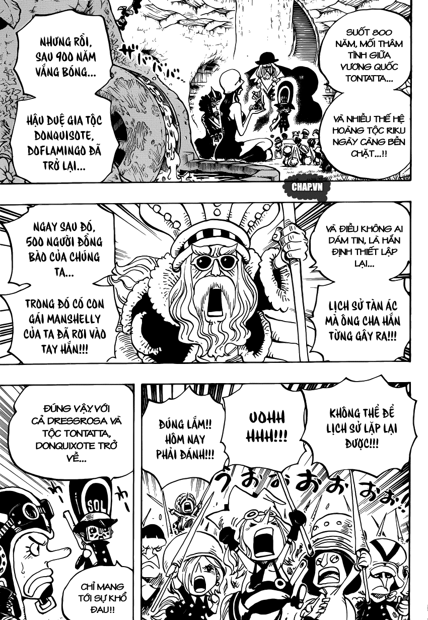 One Piece Chapter 726: Gia tộc Riku 017