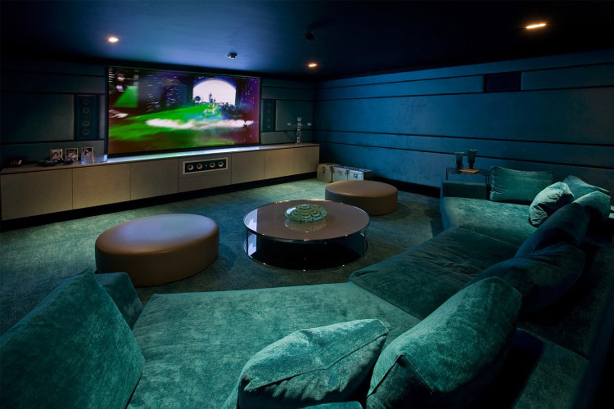 The Modern Home Theater Design Wallpaper