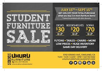 STUDENT SALE! Get 15% off your purchase when you buy two or more furniture pieces