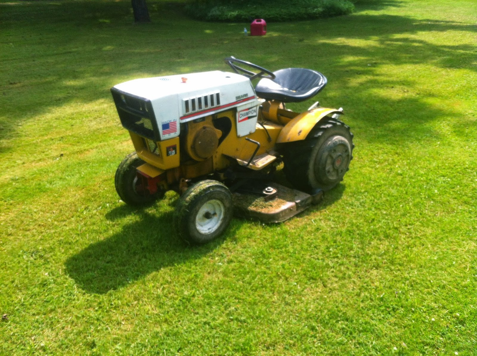 1974 Sears Garden Tractor : Mowing with the st mytractorforum
