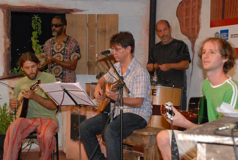 Momento do chorinho com Gustavo Agostini, Geremias Cruz e Miguel Garcia