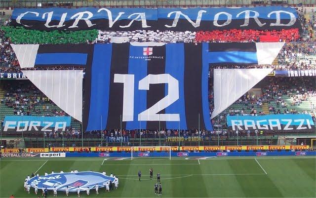 La Curva Nord dell'Inter al Giuseppe Meazza di San Siro