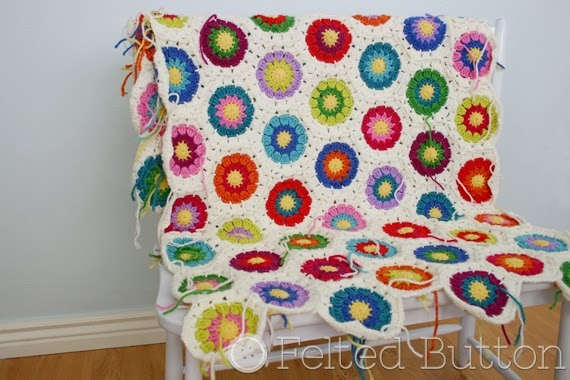 Felted Button Colorful Crochet Patterns Ends Beautiful Ends
