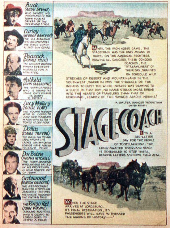 an analysis of the film stage coach in the western genre Film analysis - the western movie genre the western as a film genre essay - the western as a genre john ford's stagecoach (united artists.