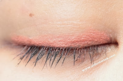 HEMA chalky eyeshaders orange - eye closed