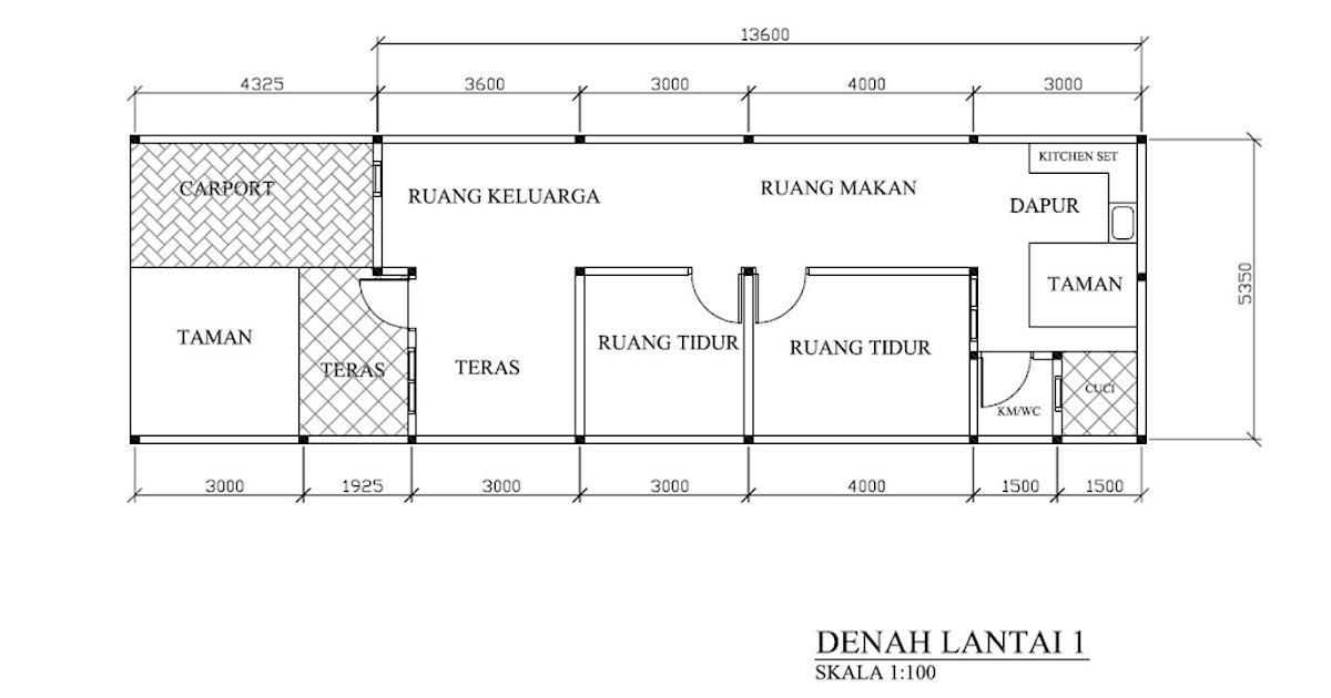 khusnul desain denah ukuran tanah 5 5 x 18 m2 di kota