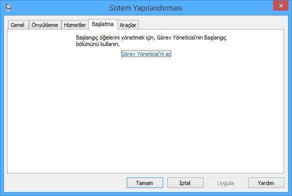 Windows 8.1 Başlangıçta Açılan Programları Kapatma