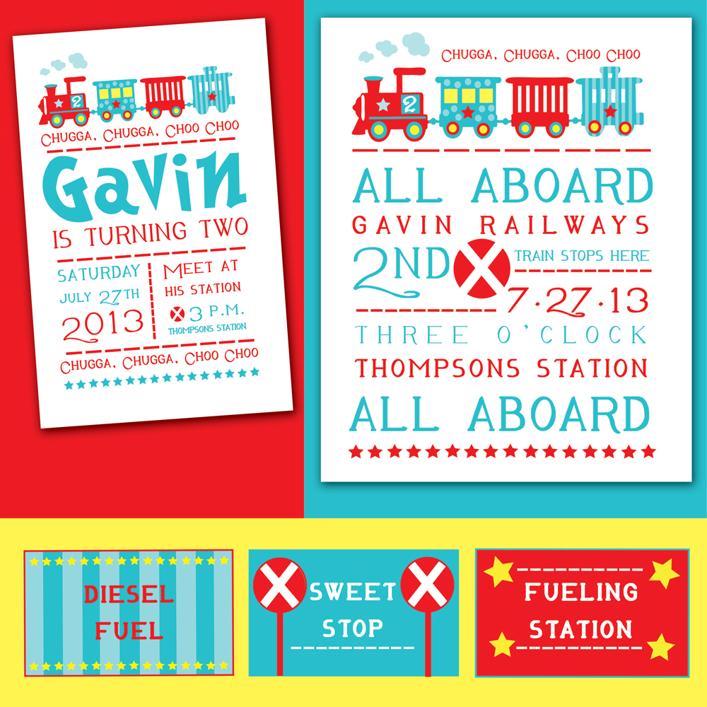 robin E designs: All Aboard A 2nd Birthday Party