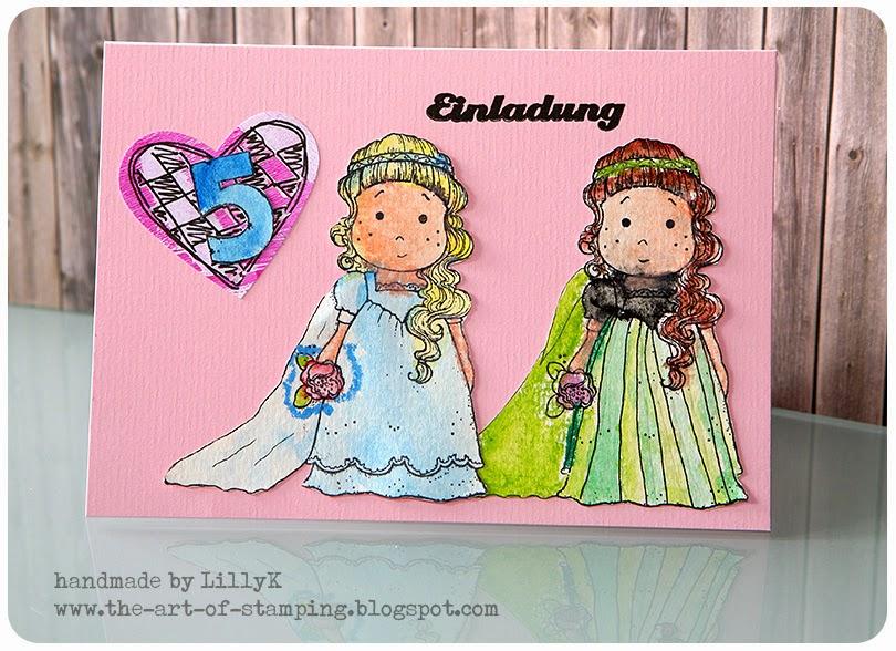 SonjaK   The Art Of Stamping: Magnolia   Einladungskarten Zum  Kindergeburtstag