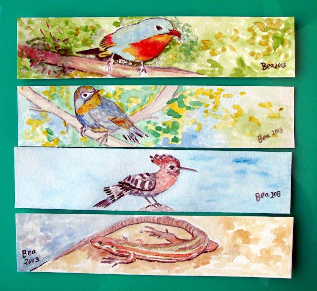 Marcadores de Livros: tema passarinhos