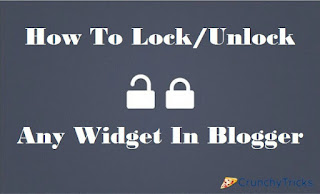 Lock Unlock Widget In Blogger
