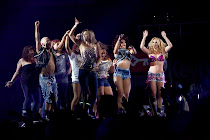 Dancing on stage with Britney Spears!