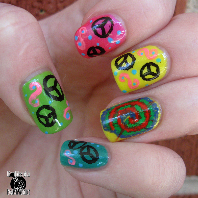 Hippie Peace Sign And Tye Dye Rambles Of A Polish Addict