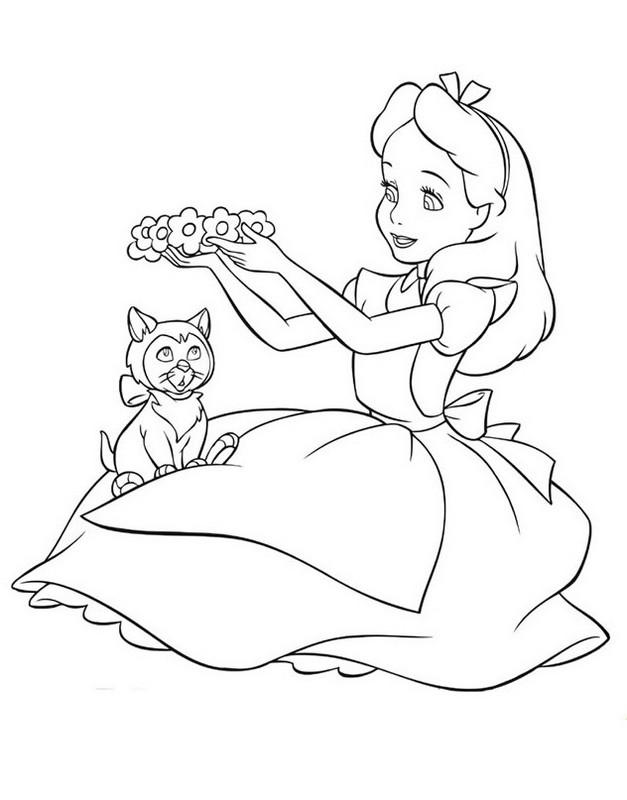 Alice Im Wunderland Malvorlagen Kleid