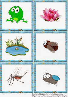frog song for kids, flashcards