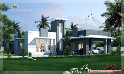 Contemporary home design - 418 Sq M (4500 Sq. Ft) - January 2012