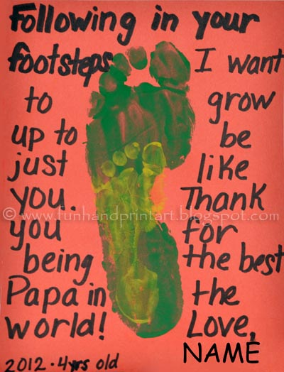 Following in Daddy's Footsteps Father's Day Footprint Craft