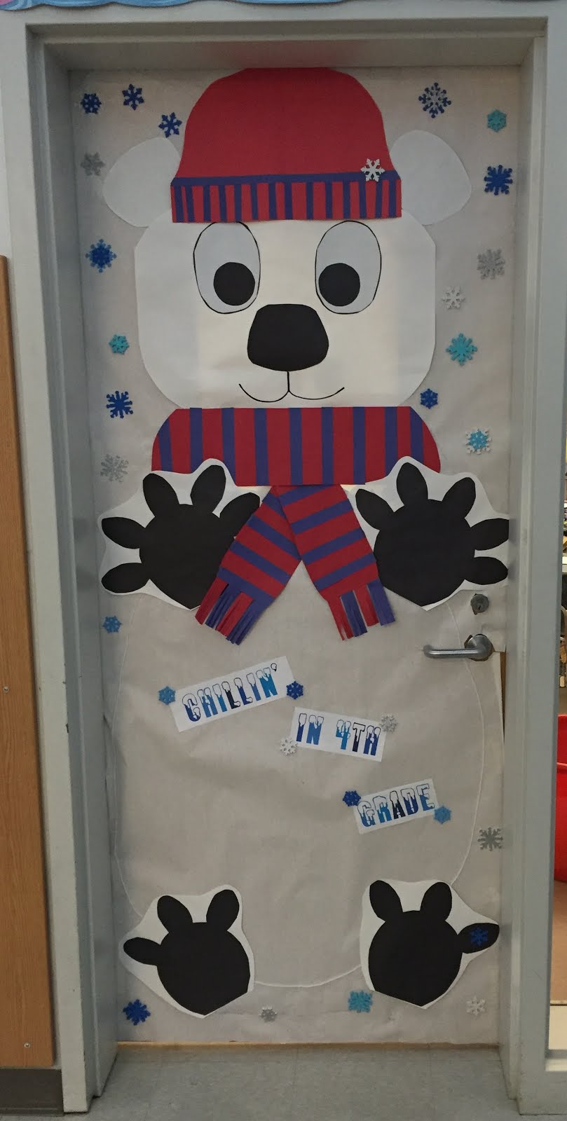 Winter Classroom Door Decorations ~ Creative elementary school counselor winter door decorations