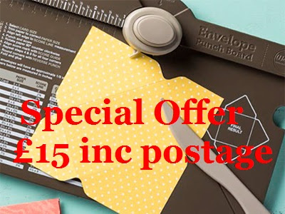 Envelope Punch Board Special -  £15.00 FREEPOST - only available until 11/08/15