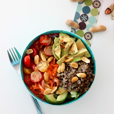 Illustration Veggie Bowl Lentilles - Avocat
