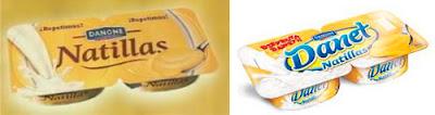 Natillas y Danet de la marca Danone