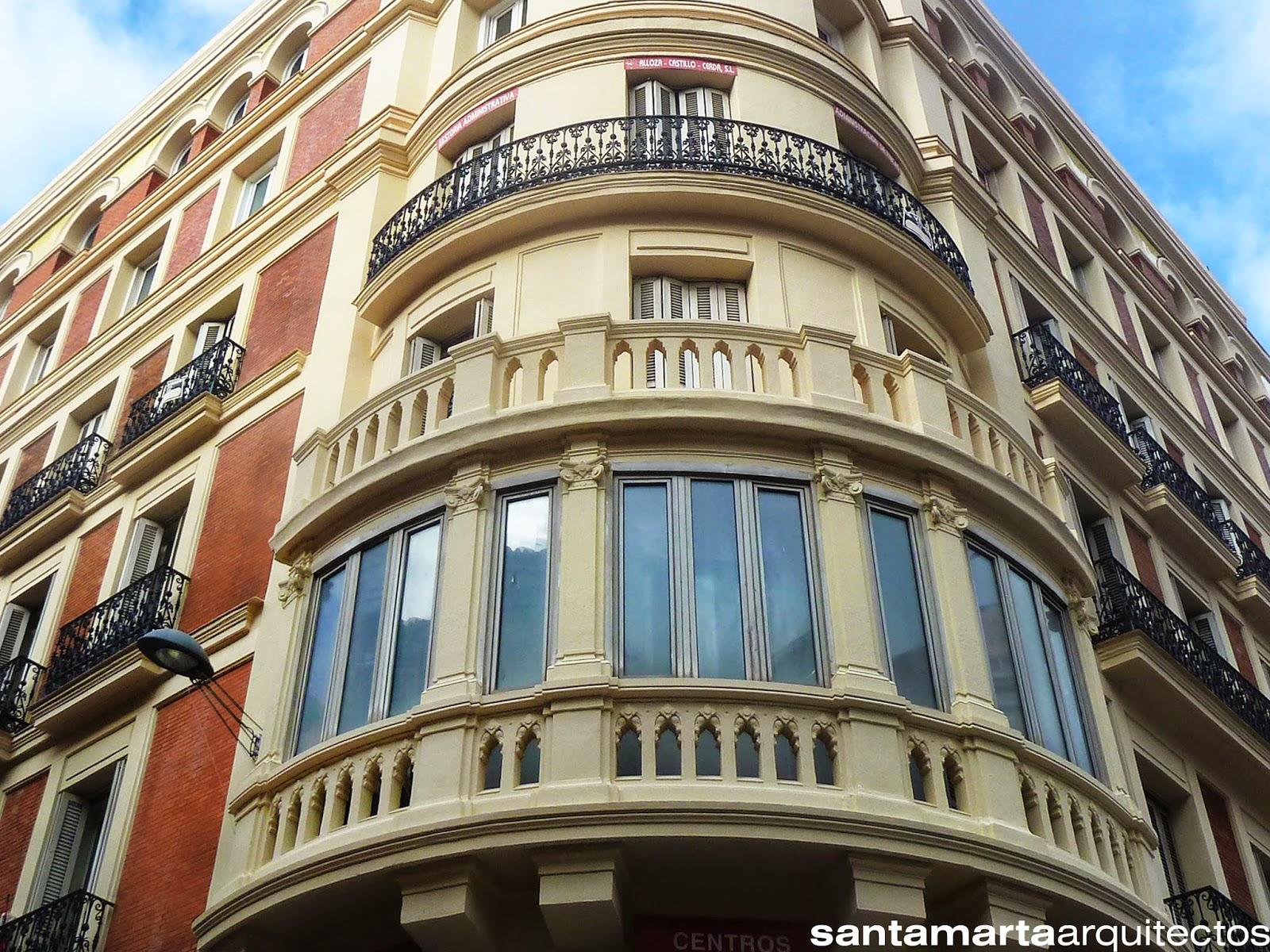 Aspecto de la misma zona tras las reparaciones efectuadas en la fachada