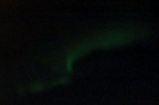 searching for the northern lights - green aurora