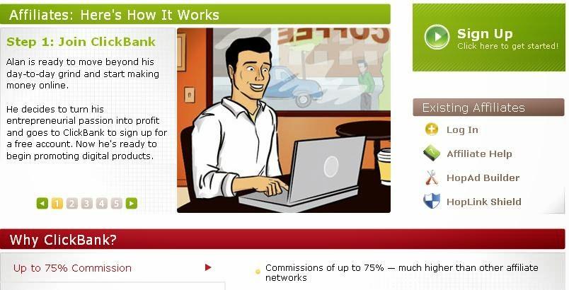 cara cepat daftar clickbank
