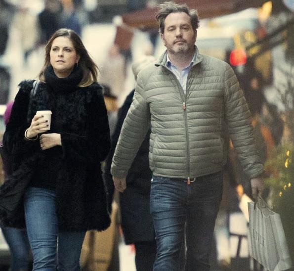 Princess Madeleine And Chris O'Neill Out Christmas Shopping