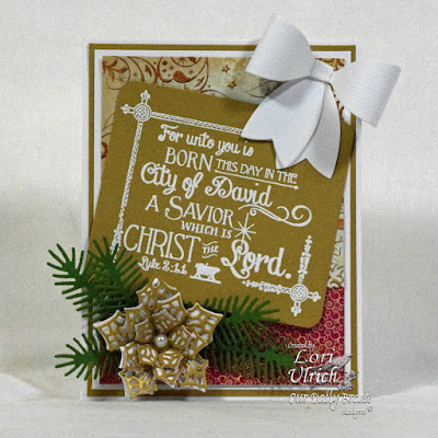 Our Daily Bread Designs Stamp set: Born This Day, Our Daily Bread Designs Custom Dies: Merry Mosaics, Peaceful Poinsettias, Lovely Leaves, Medium Bow, Our Daily Bread Designs Paper Collections: Winter 2014, Christmas 2015
