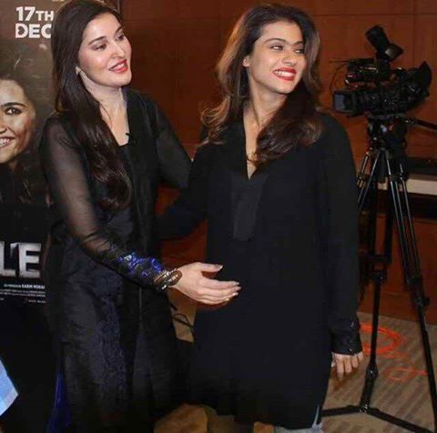 Morning Show Host Shaista Lodhi with famous film star kajol and Shahrukh Khan recently pic captured in Dubai.Shahrukh khan promoting his new film Dilwale
